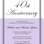 40th Anniversary Invitation Wording