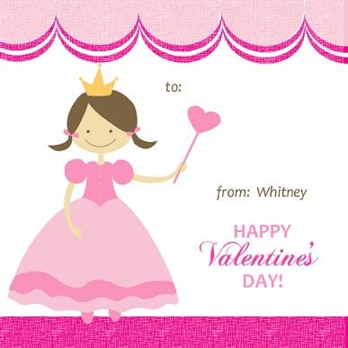 Pink Princess Valentineu0027s Card