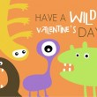 Wild Monster Valentine's Day Card