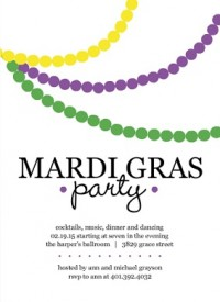 mardi gras party invitations  it's carnival time, Party invitations