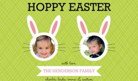Cut Out Photo Easter Card