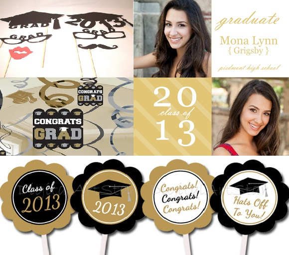 Black and Gold Graduation Party Theme