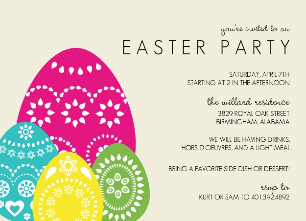 Colorful Easter Party Invitation