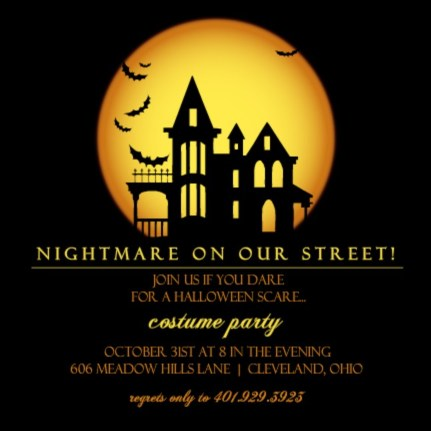 halloween trivia halloween party invitation by purpletrail - Halloween Monster Trivia