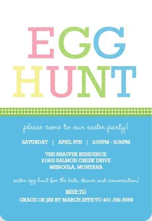 Spring Easter Egg Hunt Party Invitation