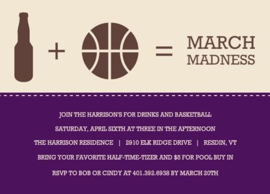 March Madness Invitation