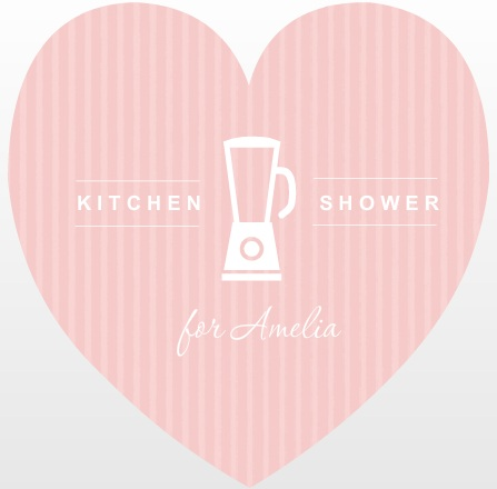 Pink Stripe Kitchen Shower Invitation