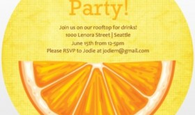 PurpleTrail summer party invitation.