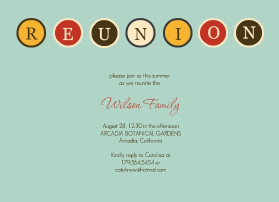 Family Reunion Games Activities From PurpleTrail – Free Printable Family Reunion Invitations