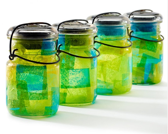 Mason Jar Solar Lantern Reunion Decorations