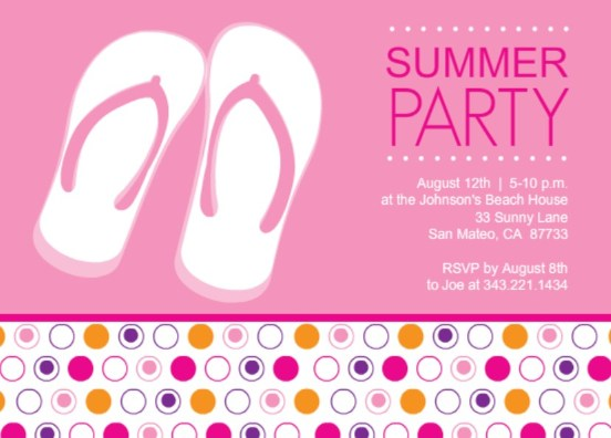 Summer Backyard Party Invitation : summer party invitation by purpletrail outdoor party game ideas