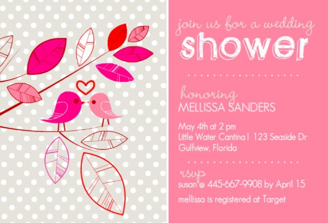 WeddingPaperie bridal shower invitation.