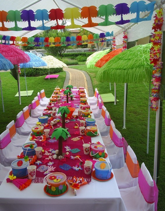 Kids Luau Party Ideas From PurpleTrail - Tropical Birthday
