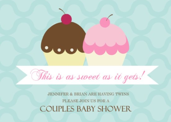 Twins Baby Shower Invitation By PurpleTrail.