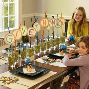 Give Thanks centerpiece for kids' table