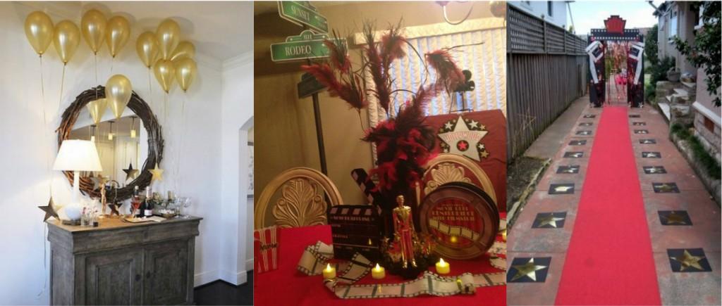 Ideas for oscar theme party images for Oscar decorations