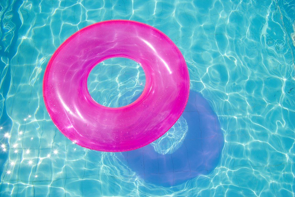 Pink Inflatable Pool Ring