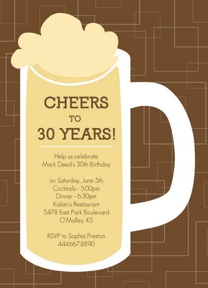 30th birthday ideas -- 30 ways to celebrate turning 30, Birthday invitations