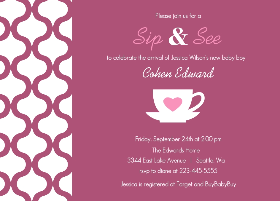 Sip Invite was adorable invitations template