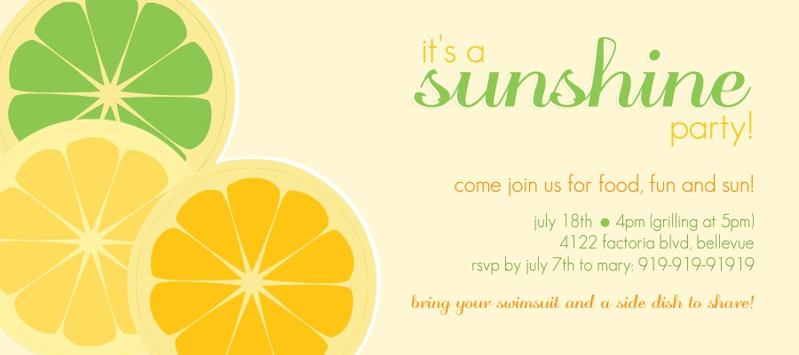 summer party ideas -- food, cocktail, & entertainment tips, Party invitations