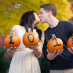 Beautiful, Vibrant, & Spooky Fall Engagement Photos