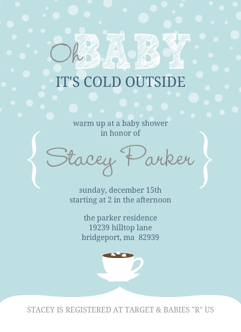 Snowflake Baby Shower Invitations is adorable invitation template