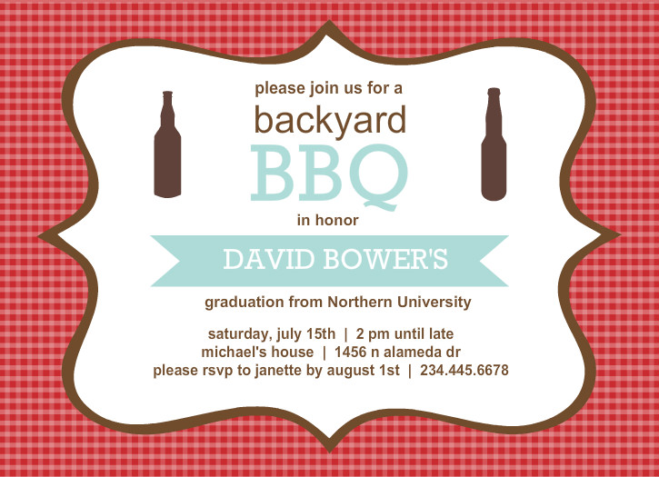Outdoor Graduation Party Ideas BBQ Picnic Luau Invitaitons – Graduation Cookout Invitations