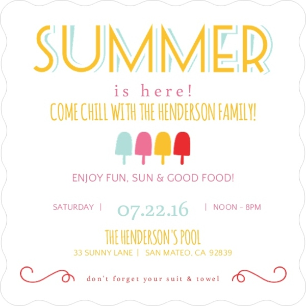 block party ideas: how to organize a neighborhood summer block party, Party invitations