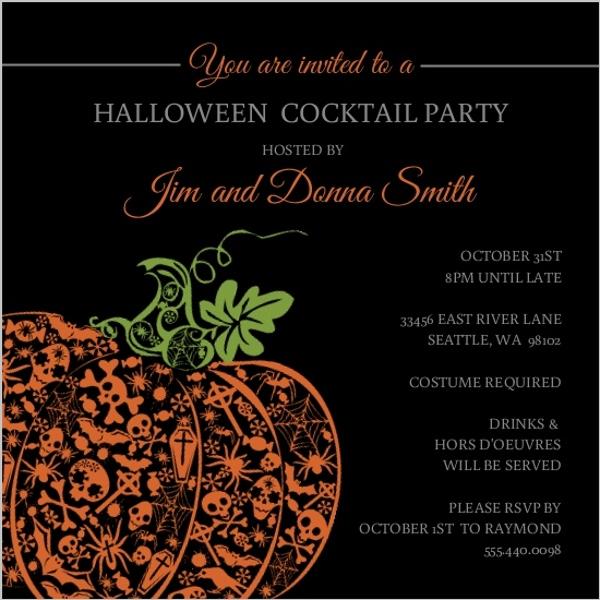 glamorous halloween party ideas invitations, themes, decorations, Party invitations