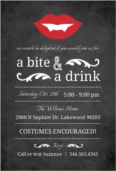 Glamorous Halloween Party Ideas Invitations Themes