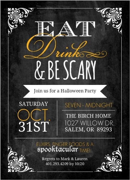 glamorous halloween party ideas: invitations, themes, decorations, Party invitations