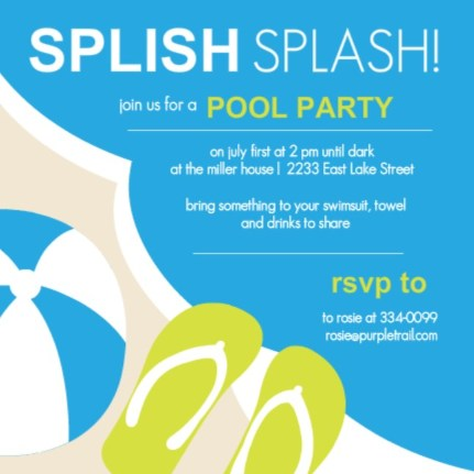 Pool Party Ideas and BBQ Inspiration Summer Celebration Guide – Swim Party Invitation Ideas