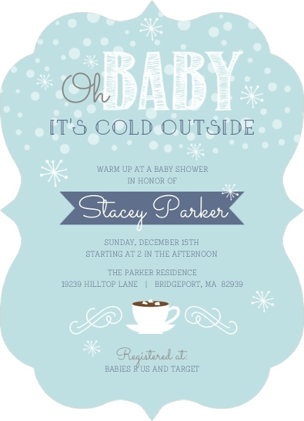winter baby shower ideas: invitations, decorations, & more, Baby shower invitations