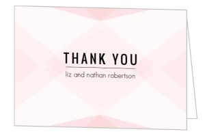 Proper Wording For Wedding Gift Thank You Cards : modern blush thank you note by purpletrail thank you card quote ideas