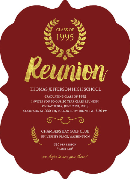 What are some 50th class reunion ideas?