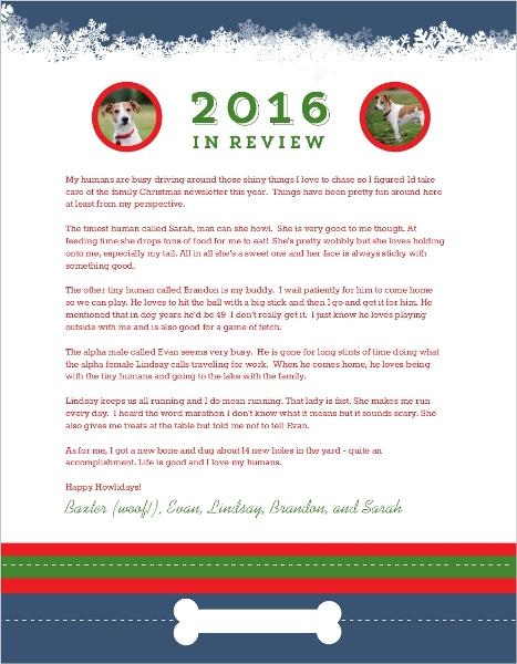 Great Christmas Letter Endings