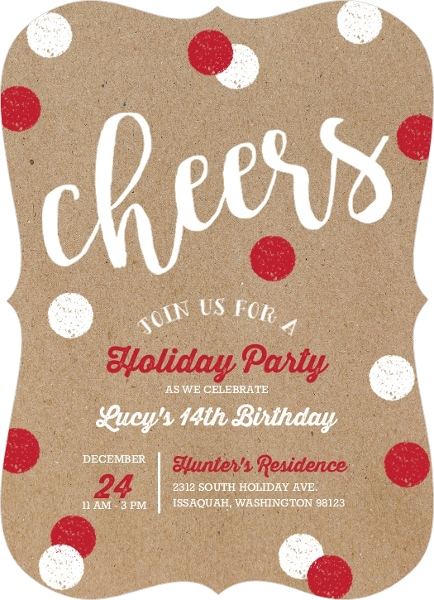 christmas party invitation wording from purpletrail, Party invitations