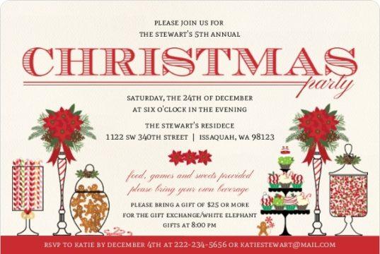 Holiday Sweets Bar Holiday Party Invitation