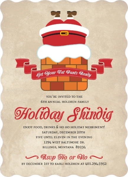 Christmas Party Invitation Wording From PurpleTrail – Invitation to a Christmas Party