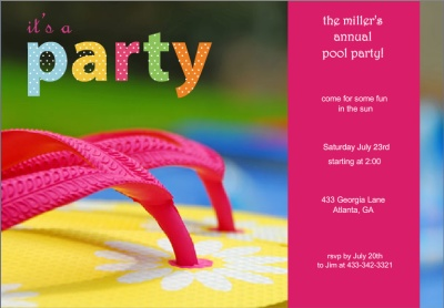 pool party invitation wording