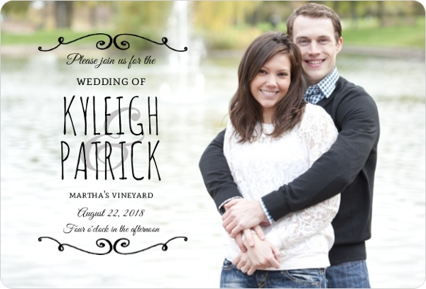 Postcard Wedding Invitations & Wording: Vintage, Beach, Rustic, Vegas