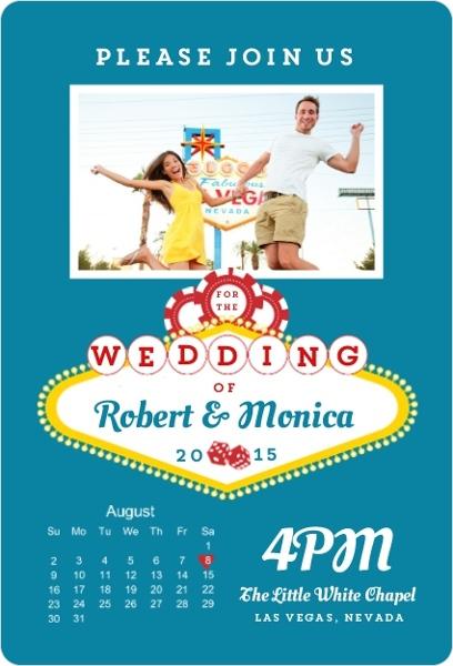 Postcard Wedding Invitations Wording Vintage Beach Rustic Vegas – Las Vegas Wedding Invitation Ideas