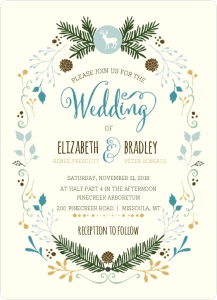 Woodland Rustic Frame Wedding Invitation By WeddingPaperie.com.