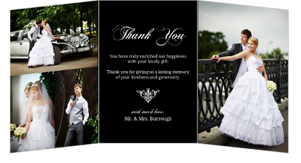 Wedding Thank You Card Wording Samples Sayings Etiquette Ideas – Wedding Thank You Card Sample