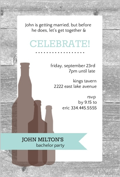 Bachelor Party Ideas 20 Fun Clean Unique Cheap Ways To Celebrate – Wording for Bachelor Party Invitations