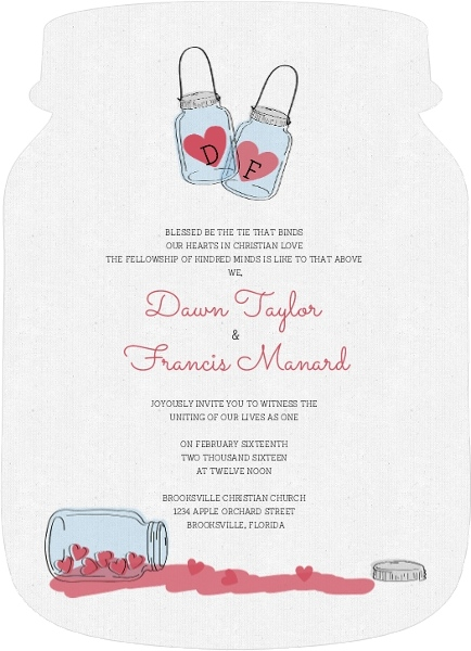 rustic love jar wedding invitation by weddingpaperiecom - Weddings Invitations