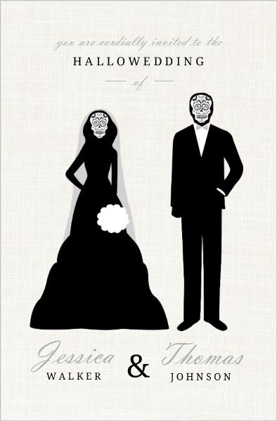 vintage halloween wedding ideas, themes, invitations, decor, favors, Wedding invitations