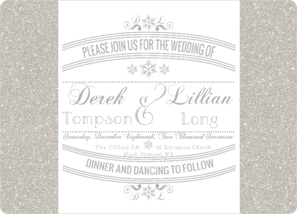 Enchanted Winter Wonderland Wedding Invitations By WeddingPaperie.com.