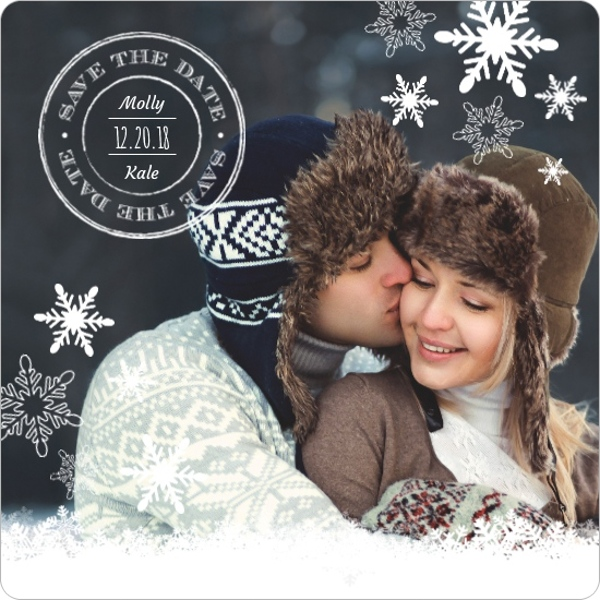 Save the Date Magnets by Wedding Paperie – Winter Wedding Save the Date Magnets