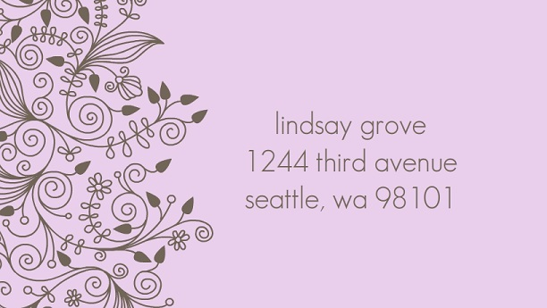 Purple Personalized Address Labels